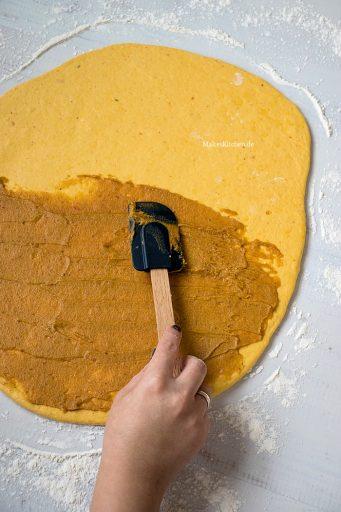 Pumpkin Spice Schnecke Zubereitung