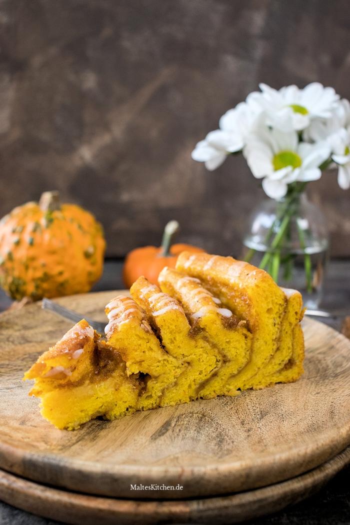 Leckere Kürbis Schnecke mit Pumpkin Spice
