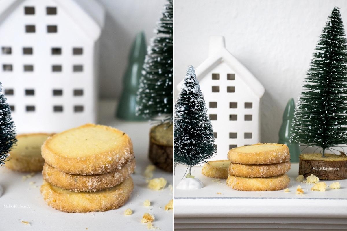 Rezept für Plätzchen Heidesand-Rosmarin Kekse