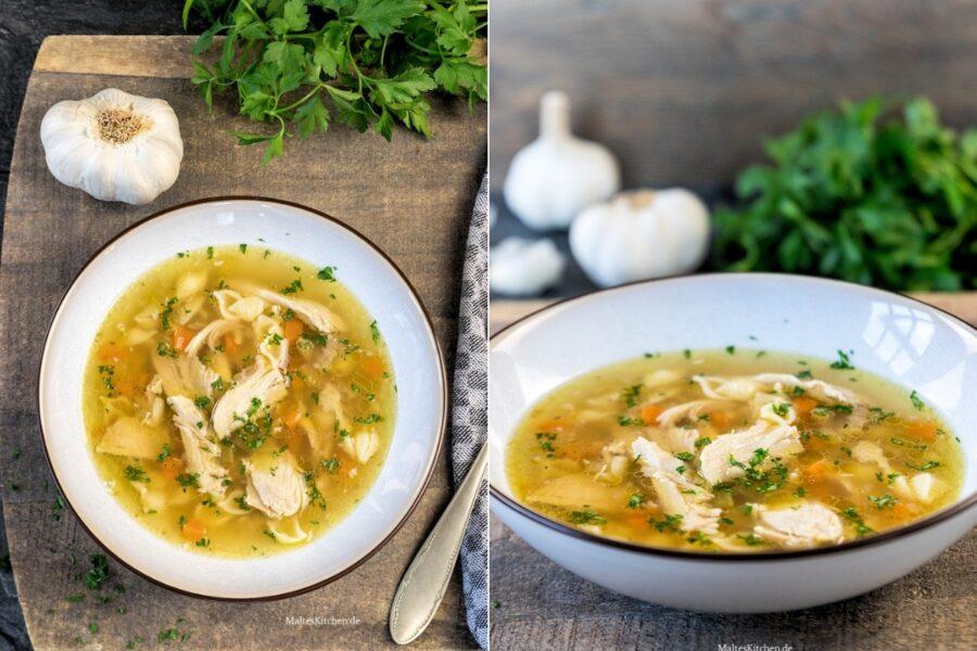 Rezept Hühnersuppe mit Nudeln und Knoblauch