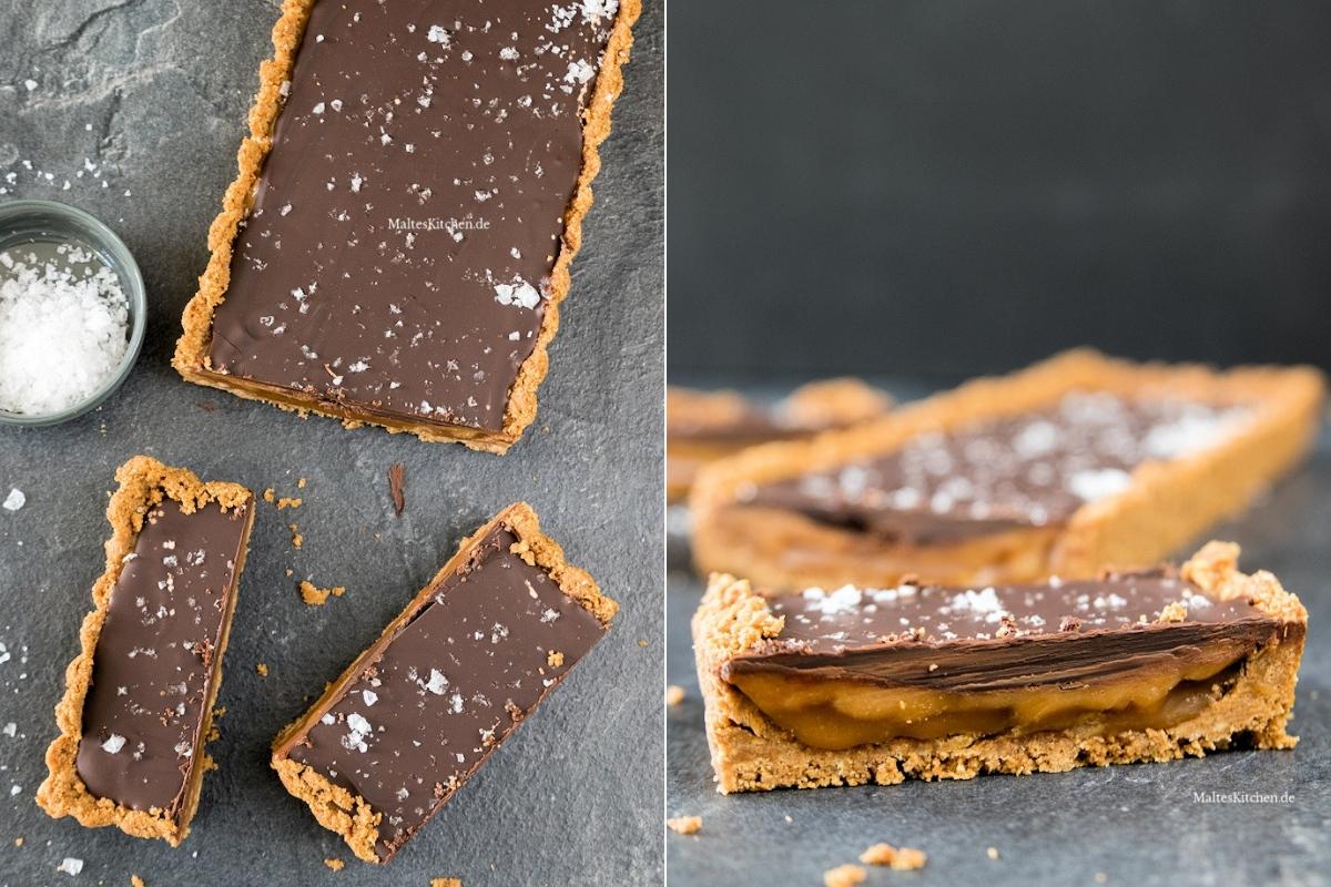 Rezept Schokoladentarte mit Karamell und Meersalz