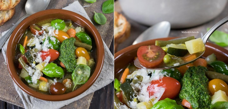 Rezept Minestrone Gemüsesuppe