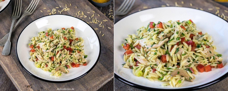 Rezept Hähnchensalat mit Nudeln