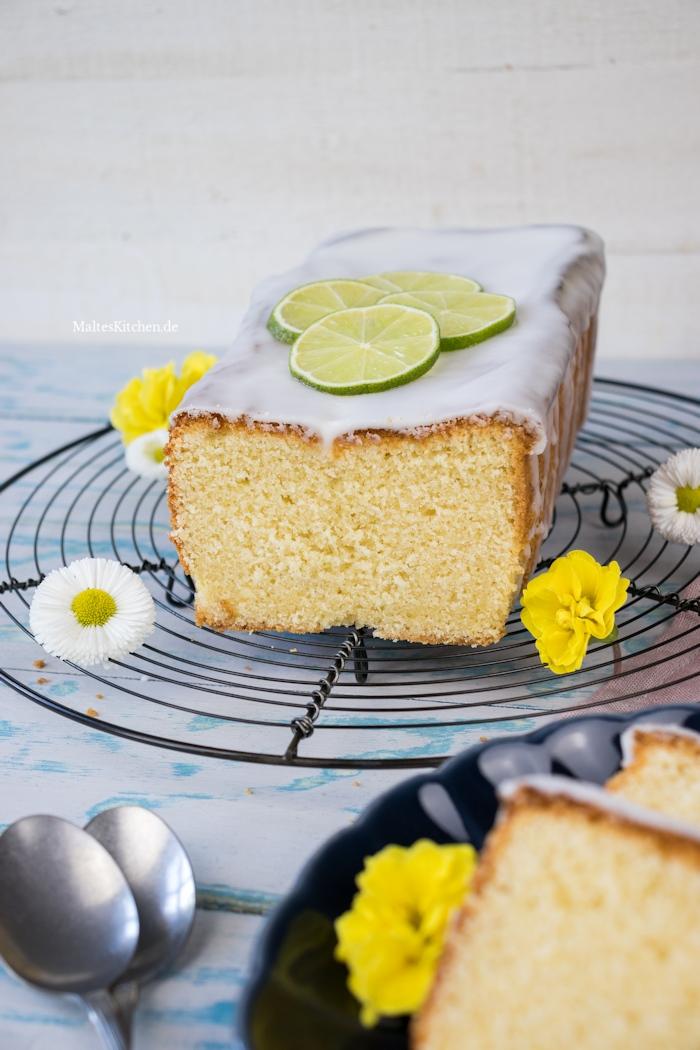 Rührkuchen mit Limette