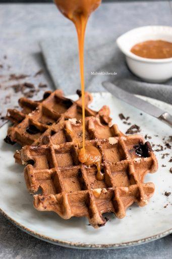 Knusprik schokoladige Brownie-Waffeln