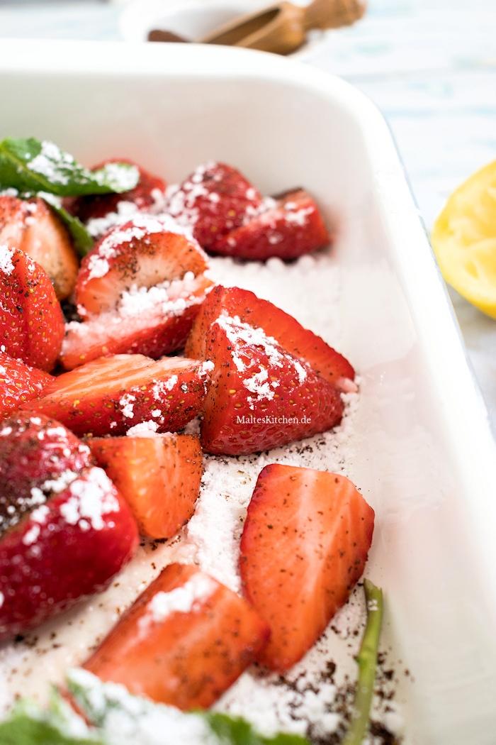 Gebackenen Erdbeeren