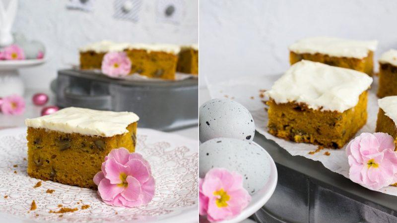 Rezept für einen saftigen Möhrenkuchen mit Mascarpone-Frosting
