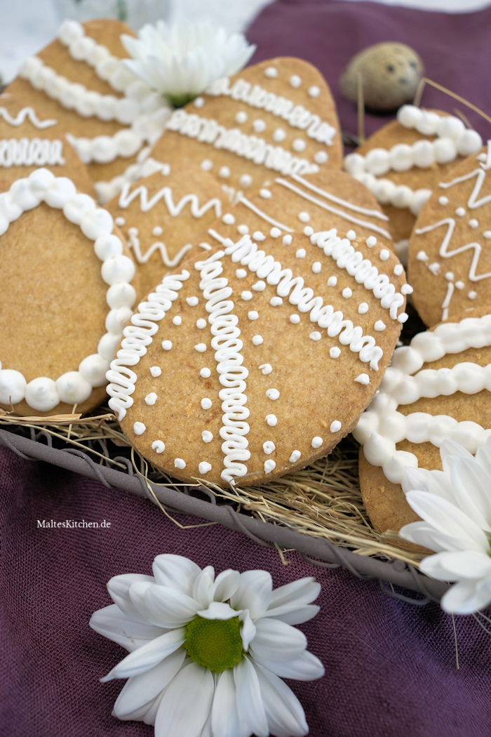 Mürbe Ostereier Shortbread Kekse