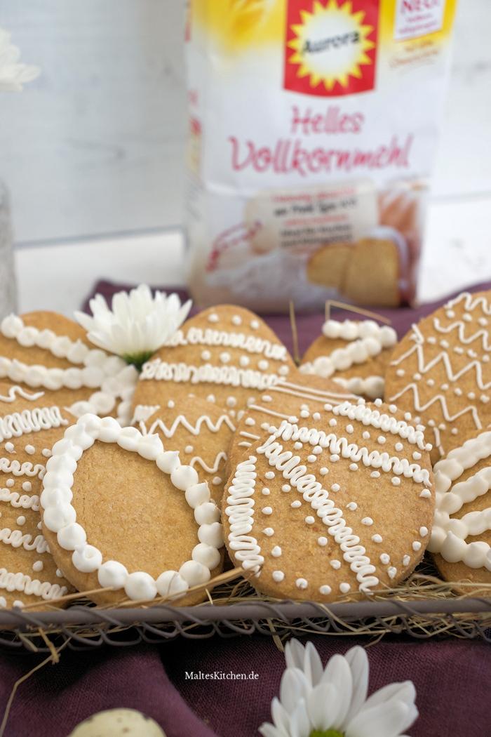 Shortbread Kekse mit hellem Vollkornmehl