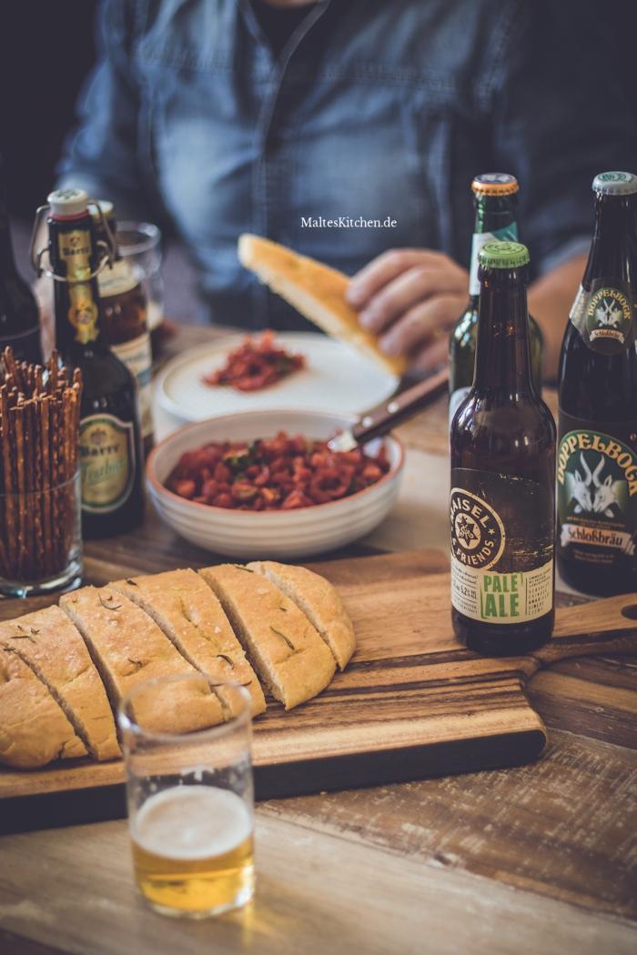 Es gab leckere Beilagen zum Bier Tasting von BierSelect