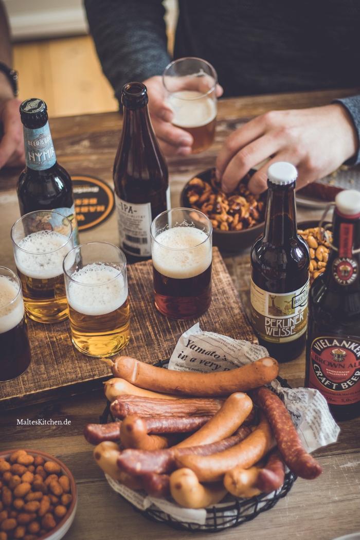 Bier-Tasting mit den Bieren von BierSelect