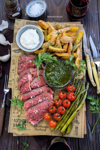 Gegrilltes Tomahawk Steak von Château Boeuf
