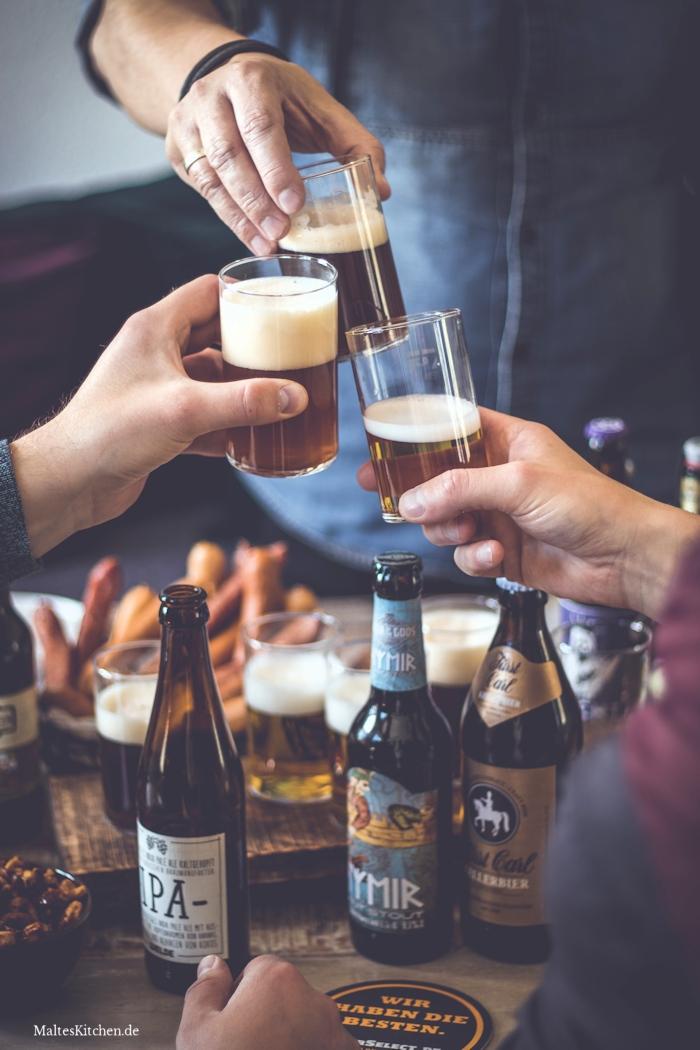 Leckere Biere aus dem Vatertag Bierpaket von BierSelect
