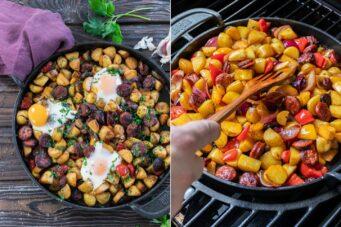 Rezept Frühstückspfanne vom Grill