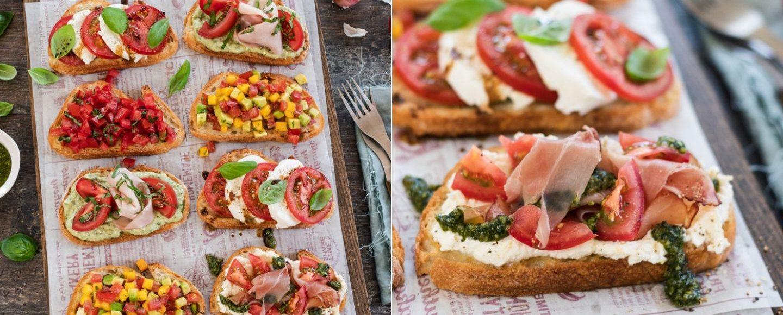 5 knusprige Crostini mit Tomaten