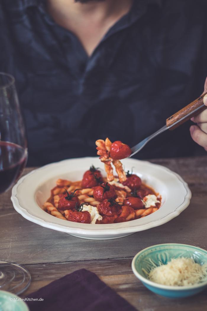 Leckere Pasta zum Abendessen