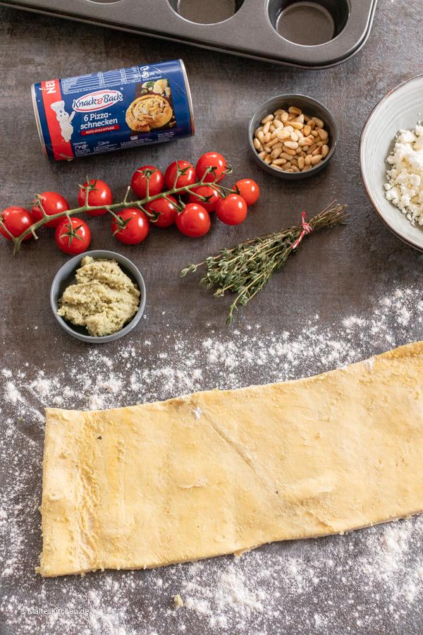 Knack&Back™ Teig für Pizzaschnecken Pesto Style