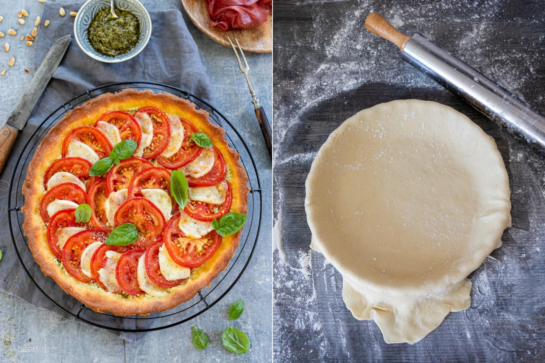 Rezept für eine sommerliche Tomatentarte