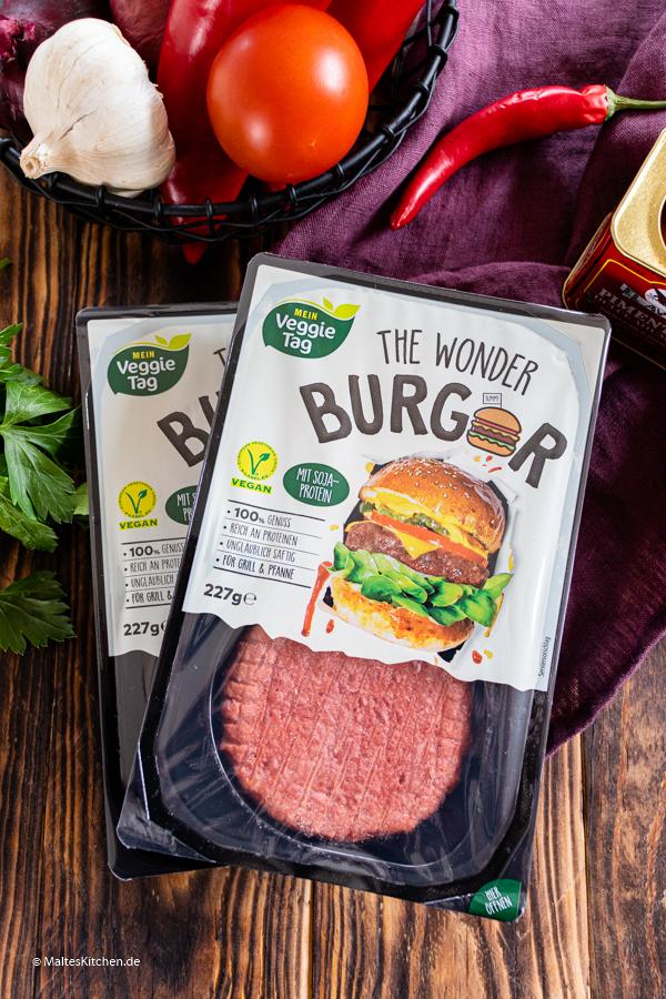 Der vegane Wonder Burger von ALDI SÜD