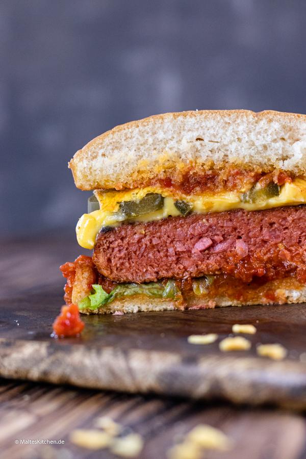 Der Wonder Burger im Anschnitt