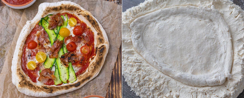 Selbstgemachte Pizza Neapolitana