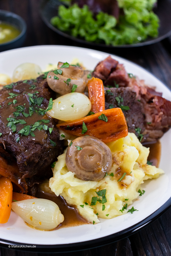 Klassisches Rinderbraten Gericht