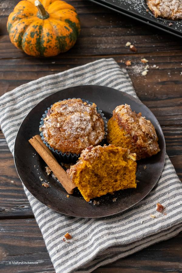 Saftig und lecker! Kürbis-Pekannuss-Muffins