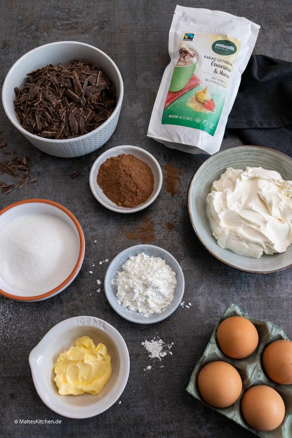 Zutaten für den Brownie