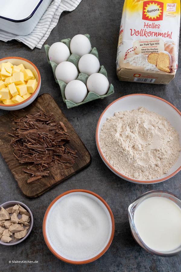 Zutaten für den Schokoladen-Hefezopf