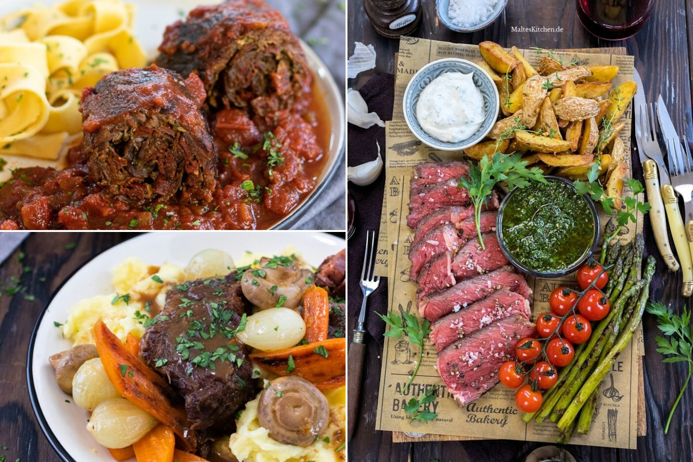 Leckere Fleischgerichte mit dem Fleisch von Chateau Boeuf