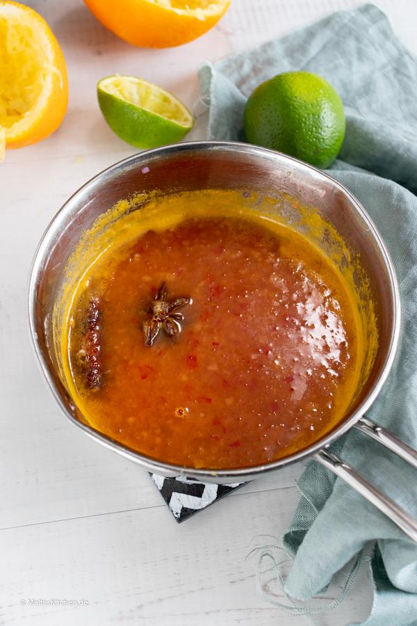 Marinade für die Mango-Salsa