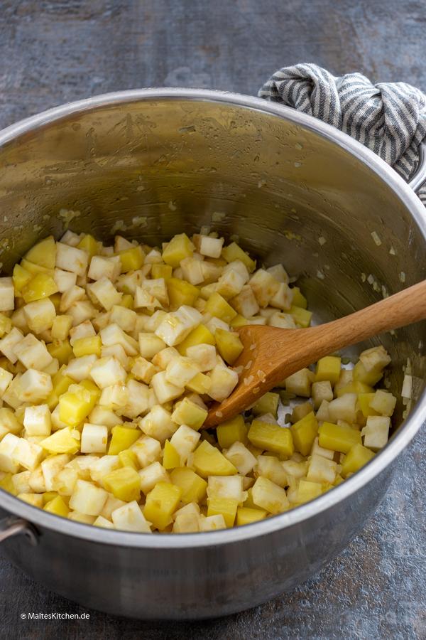 Sellerie und Kartoffeln