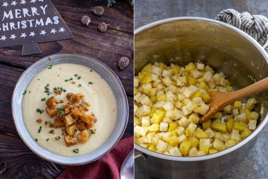 Rezept für eine Sellerie-Kartoffel-Suppe