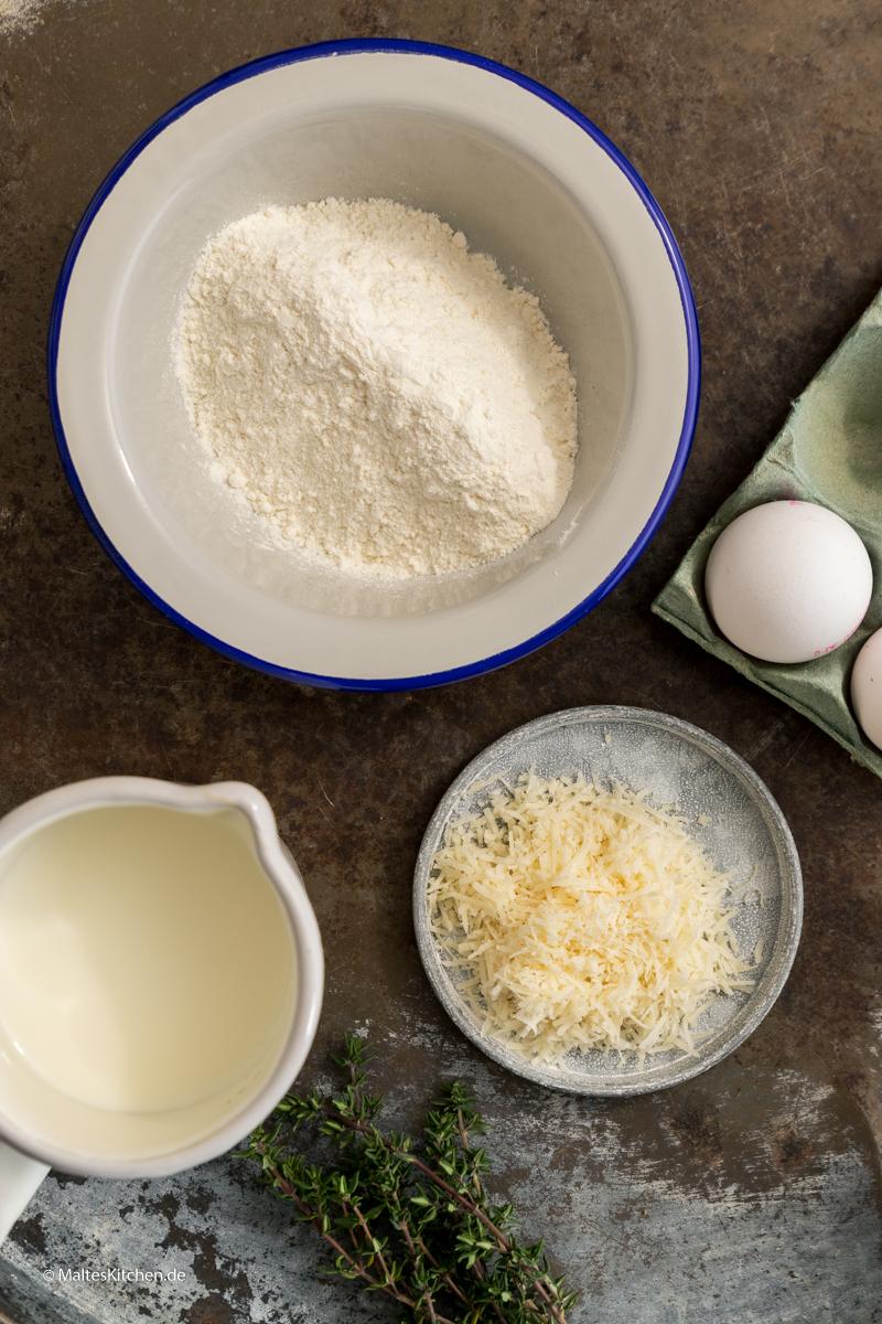 Zutaten für den Dutch Baby Ofenpfannkuchen