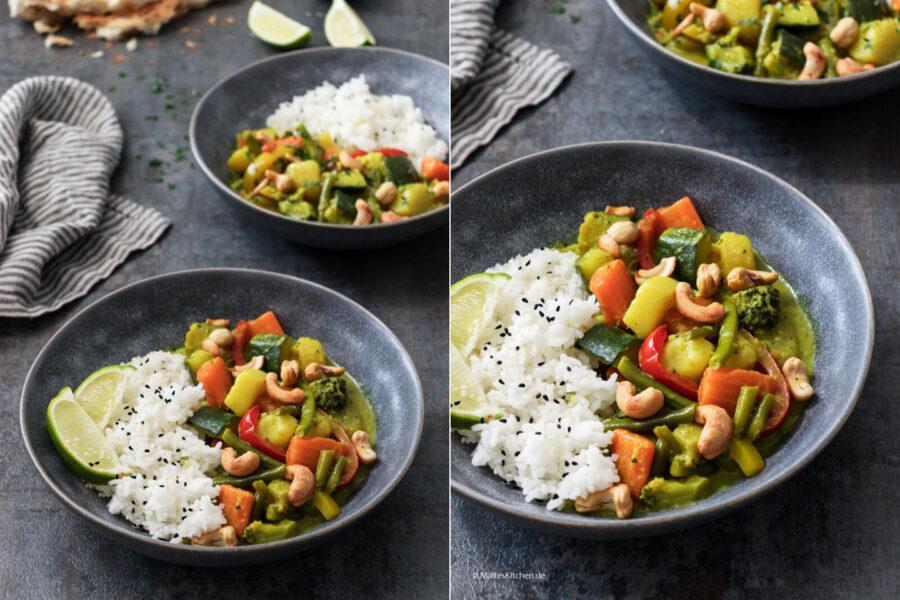 Rezept schnelles Gemüse-Curry mit Kartoffeln