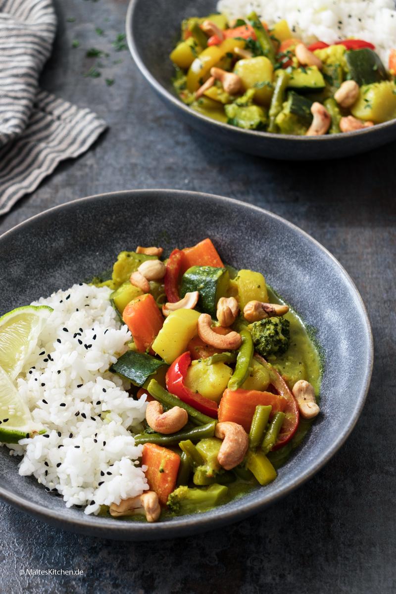 Super leckeres Gemüse-Cury mit Kartoffeln