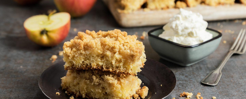 Rezept Streuselkuchen vom Blech mit Äpfeln