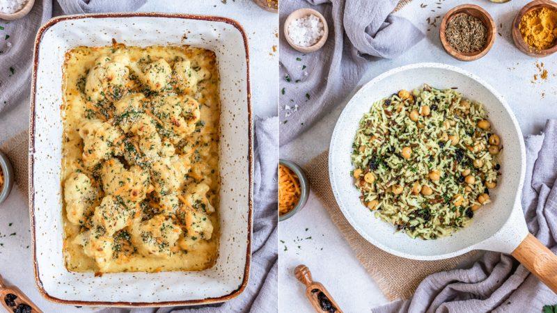 BBlumenkohl aus dem Ofen mit Käse-Sahne-Sauce