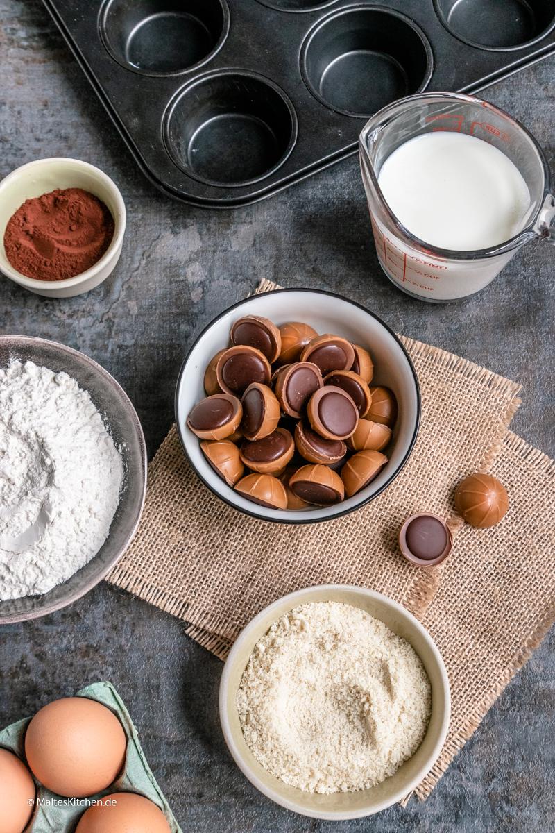 Die Zutaten für meine Schoko-Muffins