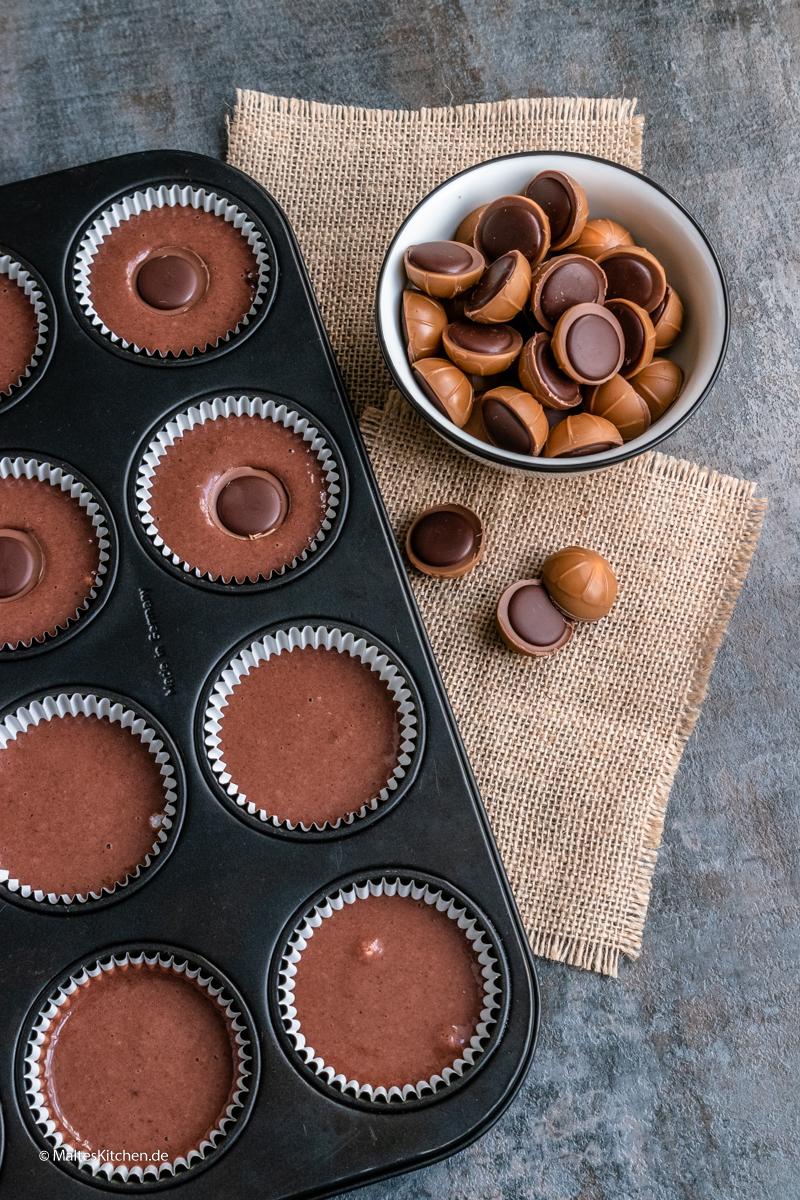 Schoko-Muffins mit Toffifee