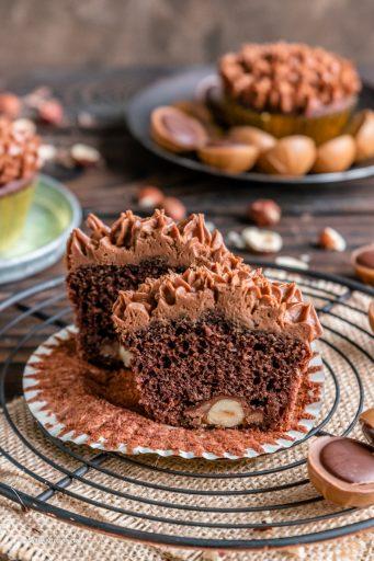 Schokoladen Muffins mit Toffifee