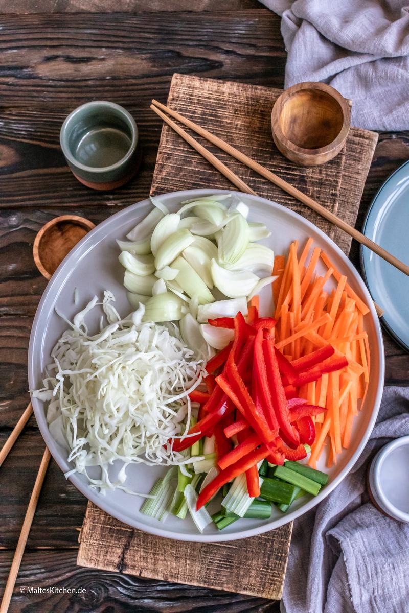 Das Gemüse für meine Yaki Udon Nudeln