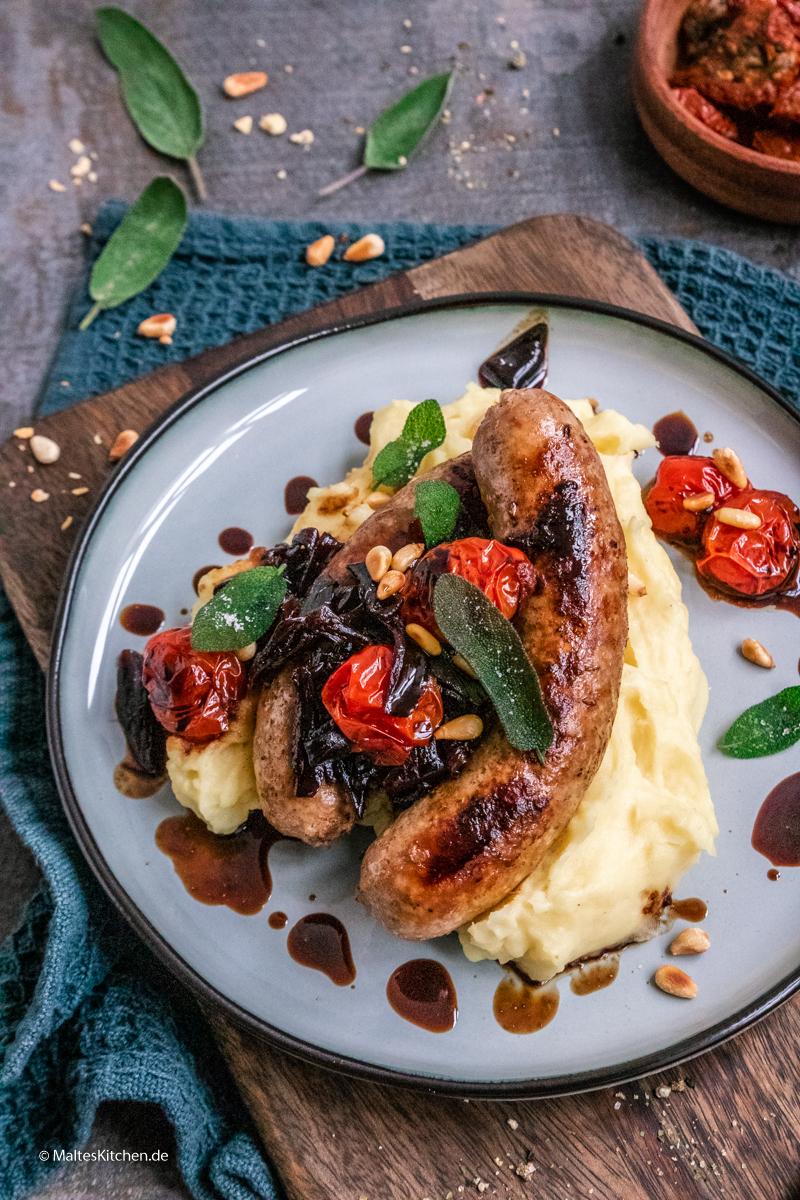 Italienische Wust mit Fenchel, Parmesan und getrockneten Tomaten