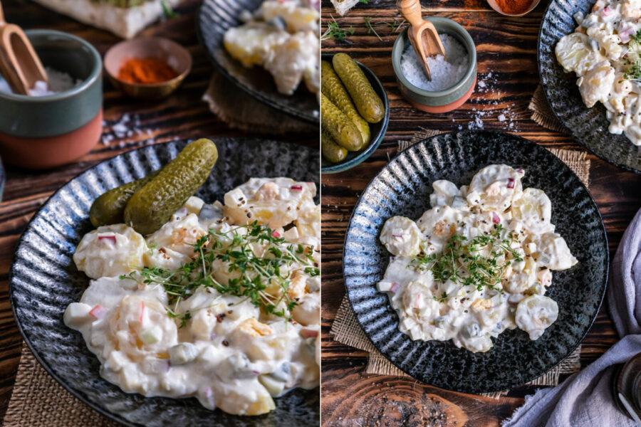 Rezeüt für einen Kartoffelsalat mit Mayo