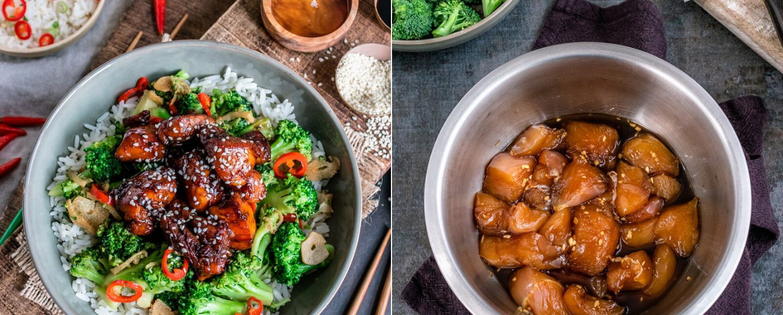 Rezept Teriyaki-Hähnchen mit knackigem Brokkoli und Reis