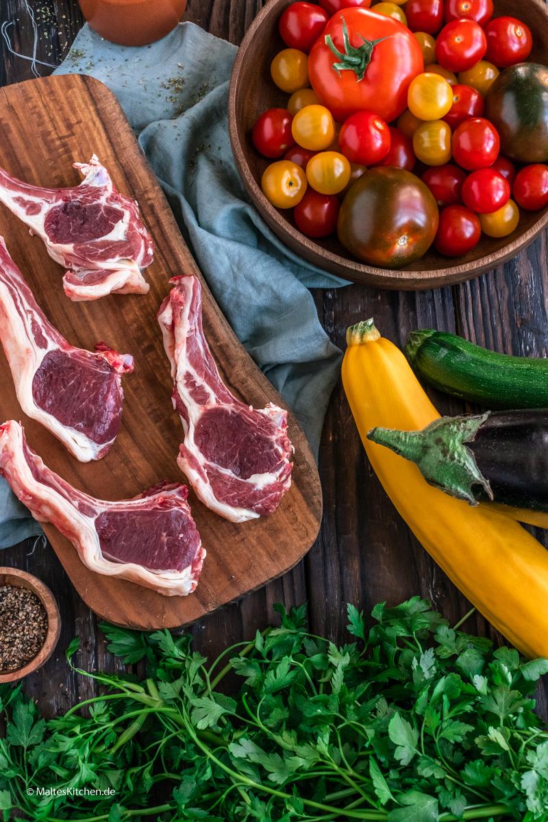 Lammkoteletts zum Grillen