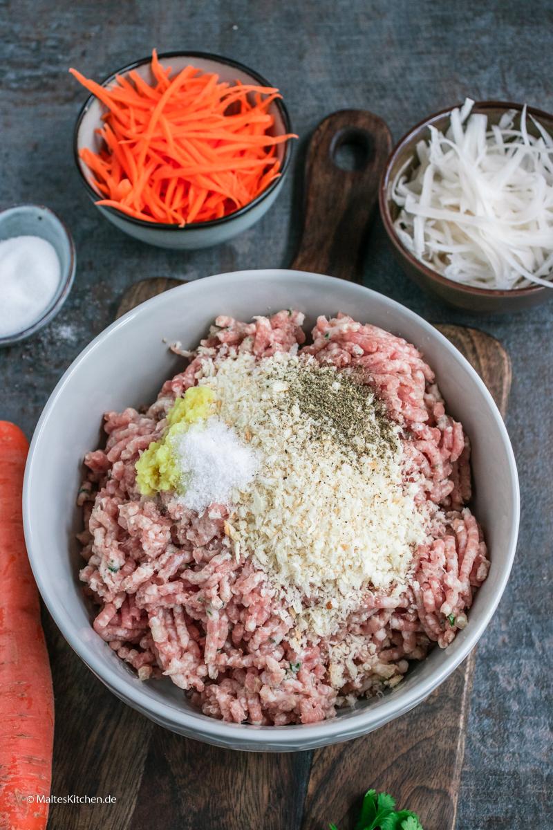Hackfleisch für meinen Banh Mi Burger