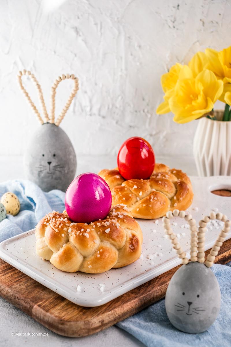 Osterkränze aus Hefteig