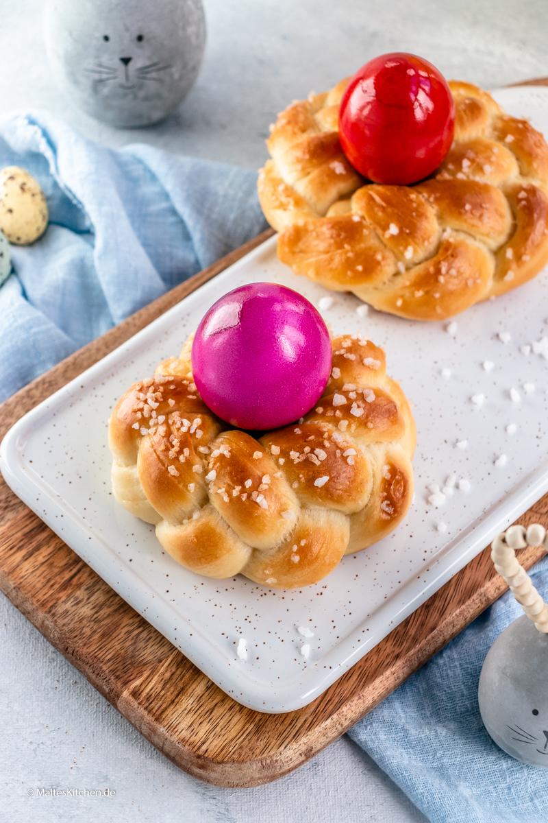 Süße Osterkränze zu Ostern