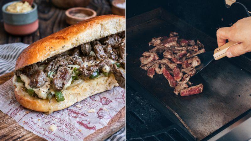 Rezept Philly Cheese Steak Sandwich vom Grill